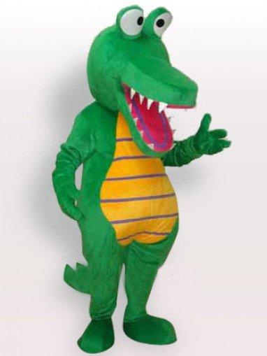 Green Crocodile Short Plush Adult Mascot Costume