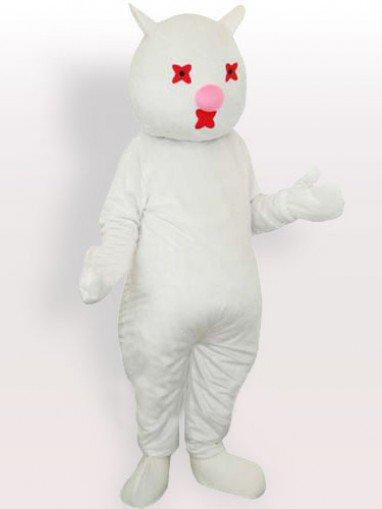 Banny White Lovely Mascot Costume