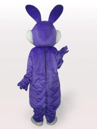 Purple Rabbit Short Plush Adult Mascot Costume