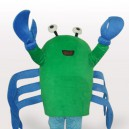 Supply Green Crab Short Plush Adult Mascot Costume