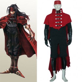 Final Fantasy VII Vincent Valentine Cosplay Costume - Halloween