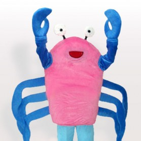 Cartoon Crab Adult Mascot Costume