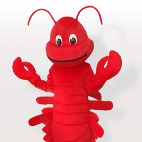 Red Cartoon Lobster Adult Mascot Costume