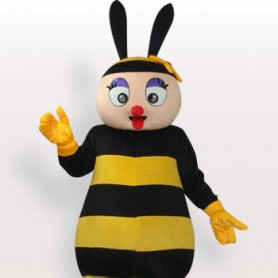 Bee Short Plush Adult Mascot Costume