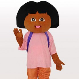 Dora Short Plush Adult Mascot Costume