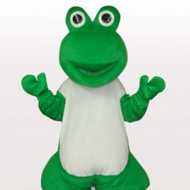Green Frog Short Plush Adult Mascot Costume