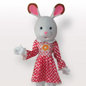 Perfect Popular Rabbit Short Plush Adult Mascot Costume