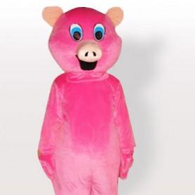 Pink Pig Adult Mascot Costume