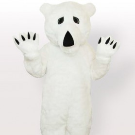 Plush Polar Bear Adult Mascot Costume