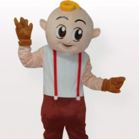 Popular Boy Short Plush Adult Mascot Costume
