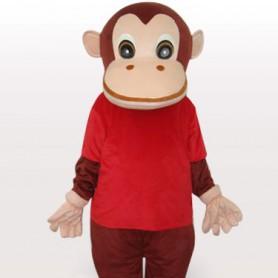Red Gorilla Adult Mascot Costume