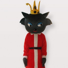 Red Wolf Short Plush Adult Mascot Costume