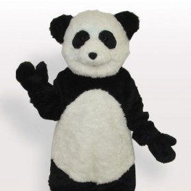 Smiling Panda Short Plush Adult Mascot Costume