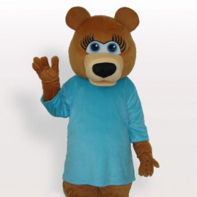 Suitable Superior Blue Bear Short Plush Adult Mascot Costume