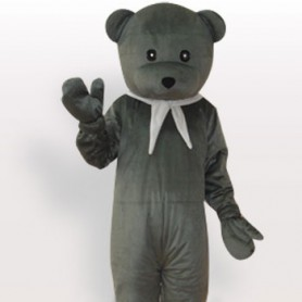 Superior Bear Short Plush Adult Mascot Costume