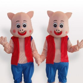 Twin Piglet Adult Mascot Costume