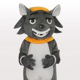 Big Big Wolf Short Plush Adult Mascot Costume