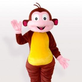 Cartoon Monkey Brown Adult Mascot Costume