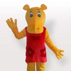 Miss Hippo Adult Mascot Costume