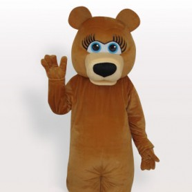 Popular Bear Short Plush Adult Mascot Costume