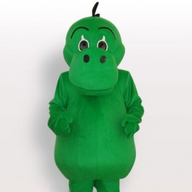Top Green Dinosaur Short Plush Adult Mascot Costume