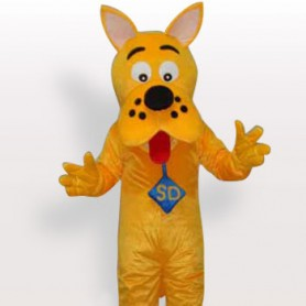 Top Yellow Dog Short Plush Adult Mascot Costume