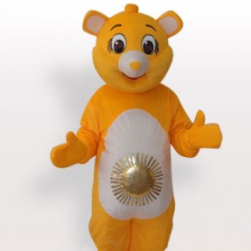 Bear Sun Short Plush Adult Mascot Costume