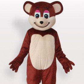 Brown Bear Short Plush Adult Mascot Costume