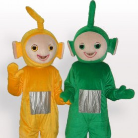 Green And Yellow Aerial Baby Short Plush Adult Mascot Costume