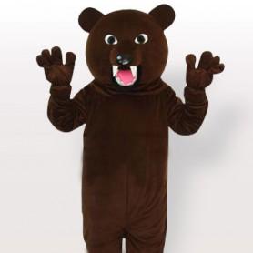 Grey Bear Adult Mascot Costume