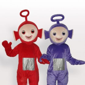 Red And Purple Aerial Baby Short Plush Adult Mascot Costume