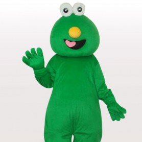 Short Hair Green Monster Short Plush Adult Mascot Costume