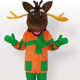 Top Merry Moose Mascot Adult Costume