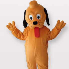 Cool Yellow Dog Short Plush Adult Mascot Costume