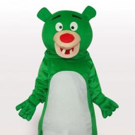 Green Bear Short Plush Adult Mascot Costume