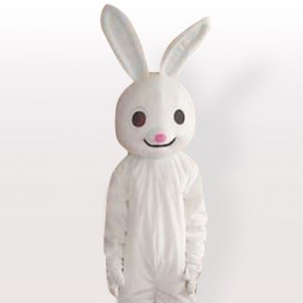 Pink Nose Rabbit Adult Mascot Costume
