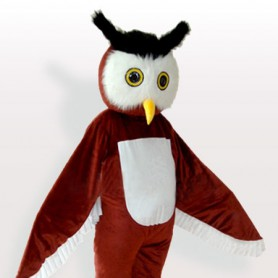 Top Brown Owl Adult Mascot Costume