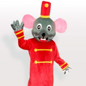 Grey Mouse the Doorkeeper Adult Mascot Costume