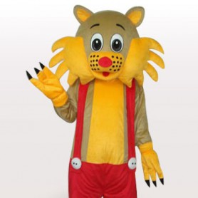 Superior Cat Short Plush Adult Mascot Costume