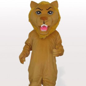 Yellow Push Lion Adult Mascot Costume