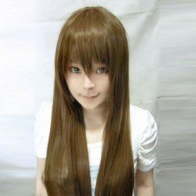 Vocaloid Brown Long Straight Hair