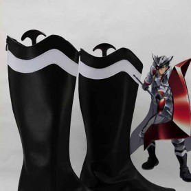 Akame Ga Kill! Bulat Black & White Cosplay Combat Boots