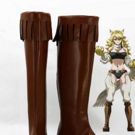 Akame Ga Kill! Leone Cosplay Combat Boots