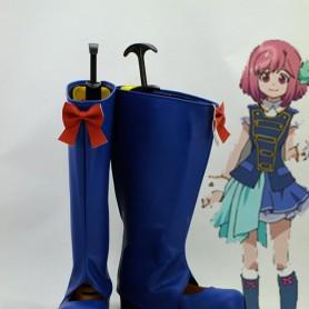 AKB0048 Nagisa Motomiya Blue Cosplay Boots