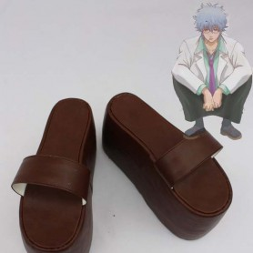 Gin Tama Cosplay Sakata Gintoki Brown Cosplay Slippers