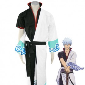 Gin Tama/ Silver Soul Gintoki Sakata Uniform Cosplay Costume