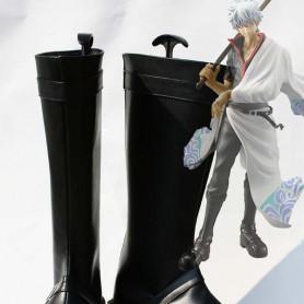 Gin Tama/Silver Soul Cosplay Black Sakata Gintoki Cosplay Boots