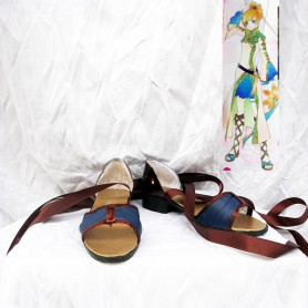 Harukanaru Toki No Naka de 4 Chihiro Ashihara Brown Cosplay Shoes