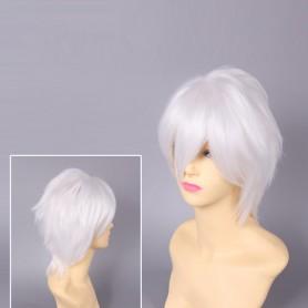 Katekyo Hitman Reborn Byakuran White Cosplay Wig