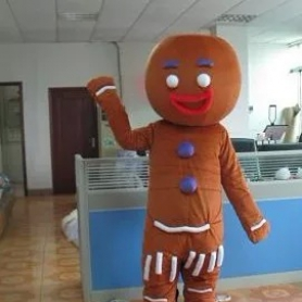 Cartoon Costumes Walking Cartoon Dolls Cartoon Doll Dress Performance Props Gingerbread Man Mascot Costume